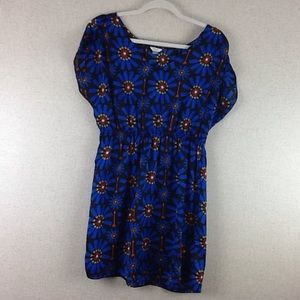 Fossil Royal Blue Dress Size Small Arrows